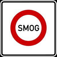 Verkehrszeichen Smog-Fahrverbot (heute nicht mehr gültig)