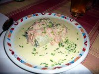 Wie wäre es mit Schinkennudellachsröllchen im Restaurant Nudeltöpfchen, Wuppertal-Sonnbron, Bild von Herrick, Wikipedia. Lizenz: cc-by-sa 2.0