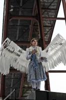 """""""Engel über Zollverein"""", Sybille Behr vom Theater Anu, Foto: WAZ FotoPool/Oliver Müller"""