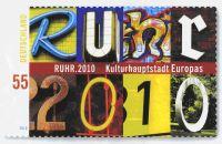 Sonderbriefmarke RUHR.2010 Copyright bei den Grafikern Stefan Klein und Olaf Neumann aus Iserlohn