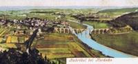 Alte Postkarte von Ruhrtal bei Herdecke (mit Viadukt)