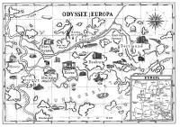 Die Karte der Odyssee Europa, Zeichnung: Christoph Franz/raumlaborberlin (c)