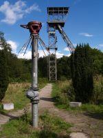 Protegohaube vorne, Förderturm hinten, Zeche Teutoburgia in Herne, Bild von Arnold Paul, Lizenz: cc-by-sa 3.0