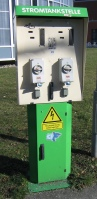 Stromtankstelle, Bild von Flominator, Wikipedia. Lizenz: cc-by-sa 3.0