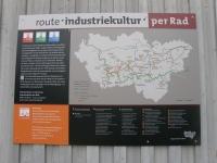 Übersichtskarte Route Industriekultur per Rad: der Emscher Park Radweg ist rot gekennzeichnet, eigenes Bild, Wikipedia, Lizenz: cc-by-sa 3.0