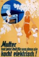 Plakat, um 1930 (c) Umspannwerk Recklinghausen. Museum Strom und Leben