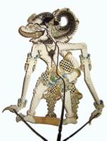 Stabfigur für Wayang Kulit, Bild von Eisenacher, Wikipeida, Lizenz: cc-by-sa 3.0