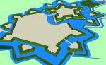 ursprüngliche Festungsanlage Moers, Bild von Arch, Wikipedia, Lizenz: Public Domain