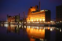 Innehafen am Abend, Bild von Harald Schrapers, Wikipedia, Lizenz: cc-by-sa 2.0