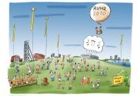 Komm zur Ruhr! / Zeichnung: Heiko Sakurei/RUHR.2010