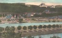 Villa Hügel 1907 an der Ruhr, der Baldeneysee existiert noch nicht, Wikipedia, public domain