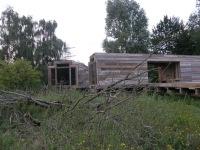 Zwei der drei Doppelhütten